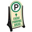 Event Parking Ahead Sidewalk Sign Kit