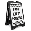 Free Event Parking Sidewalk Sign