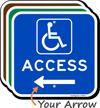 Access Left Arrow Directional Sign