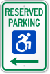 Reserved Parking ADA Disability Sign With ISA Symbol