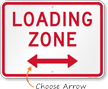 Loading Zone, Bidirectional Parking Restriction Sign