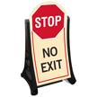 No Exit Stop Sidewalk Sign Kit