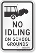 State Idle Sign for Indiana