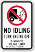 State Idle Sign for Maryland