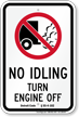 State Idle Sign for Michigan, Blue Background