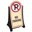 No Parking Portable A-Frame Sidewalk Sign Kit