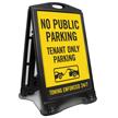 No Public Parking Tenant Parking Sidewalk Sign