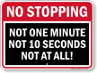 No Stopping, Not At All, Restriction Sign