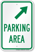 Parking Area Upper Right Arrow Sign