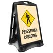 Pedestrian Crossing Portable Sidewalk Sign Kit