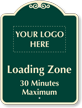 Personalized Loading Zone, Time Limit Signature Sign