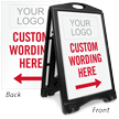 Personalized Parking Message Sidewalk Sign Insert