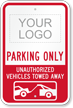 Personalized Reserved Parking Sign with Logo