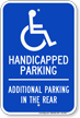 Reserved For Handicapped Parking Sign