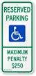 Reserved Parking Handicapped Sign