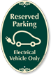 Reserved Parking Electrical Vehicle Only Signature Sign