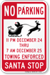 Santa Stop No Parking Sign