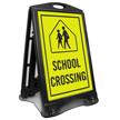 School Xing Sidewalk Sign Kit