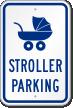 Stroller Reserved Parking Sign
