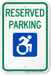 Reserved Parking Sign With Modified ISA Symbol