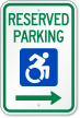 Reserved Parking Right Arrow Sign New ISA Icon