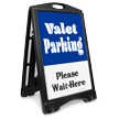 Valet Parking Please Wait Here Sidewalk Sign