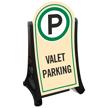 Valet Parking Standard Portable Sidewalk Sign Kit