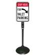 Stop Here Valet Parking Sign Post Kit