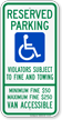Pennsylvania Reserved Parking, Van Accessible Sign