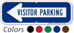 Visitor Parking Left Arrow Directional Sign