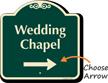 Wedding Chapel Right Arrow Signature Sign