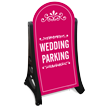 Wedding Parking Dome-Shaped Sidewalk Sign