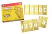 Brass Interlocking Letter and Number Stencils, 45 Piece