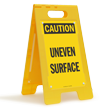Caution Uneven Surface Floor Sign