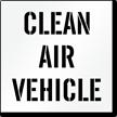 Clean Air Vehicle Parking Lot Stencil