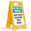 Custom Reserved Parking Standing Floor Sign