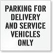 Delivery and Service Vehicles Parking Only Stencil