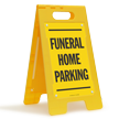 Funeral Home Parking Floor Sign