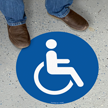 Handicap Symbol SlipSafe™ Floor Sign