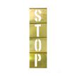 Interlocking Brass Stencils Vertical Letter Set, 33 Piece