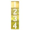 Interlocking Brass Stencils Vertical Number Set, 13 Piece