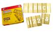 Brass Interlocking Letter Number Stencil Set, 77 Piece