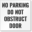 No Parking, Dont Obstruct Door Parking Stencil