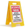 Reserved Parking Space For Tenant Floor Sign