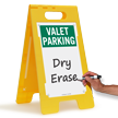 Valet Parking - Blank Standing Floor Sign