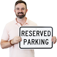 Reserved Parking (black) Aluminum Parking Sign