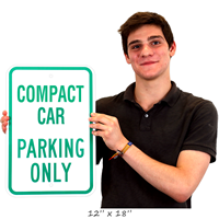 Compact Car Only Signs