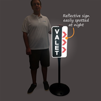 Valet Parking Sign And Post Kit