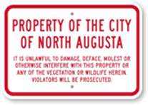 Property of City Sign