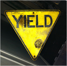 Reflective yield sign